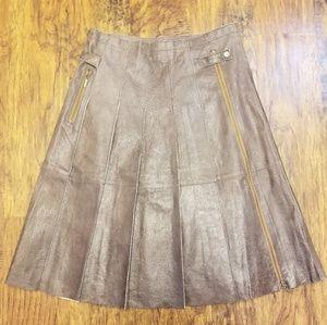 FLASH SALE!! Boston Proper Pleated Leather Skirt